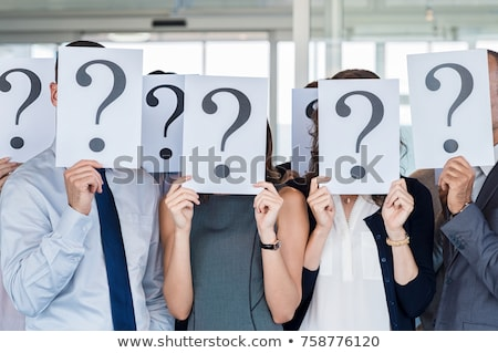 Business vragen donkere muur financiële iconen Stockfoto © Lightsource