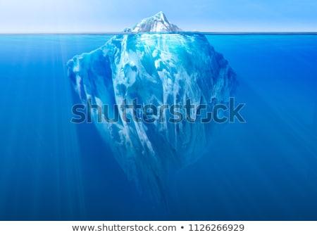 kék · kettő · gleccser · tó · Izland · tükröződés - stock fotó © arrxxx