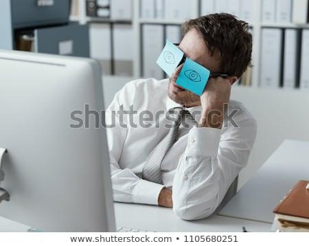 üzlet igazgató rejtőzködik szemek jóképű üzletember Stock fotó © stockyimages