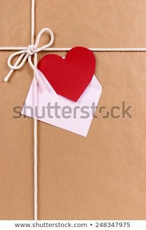 Ciąg serca etykiety shot różowy Zdjęcia stock © frannyanne