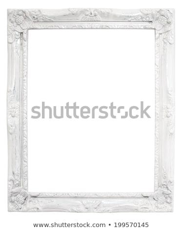 klasszikus · keret · fehér · terv · háttér · művészet - stock fotó © dekzer007
