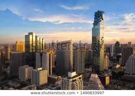 Bangkok stad luchtfoto straten gebouwen Thailand Stockfoto © ssuaphoto