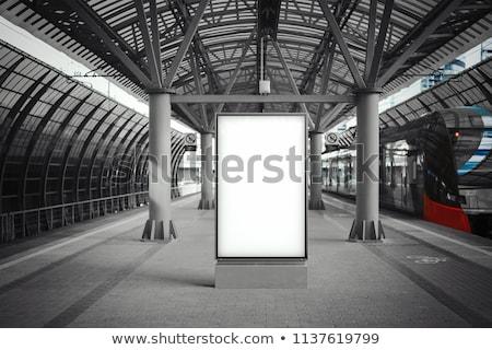 Metro station trein wazig werk Stockfoto © meinzahn