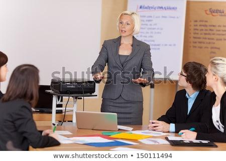 女性実業家 メモ帳 オフィス 作業 ストックフォト © deandrobot