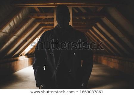 Zabójca twarz człowiek retro vintage Zdjęcia stock © Stocksnapper