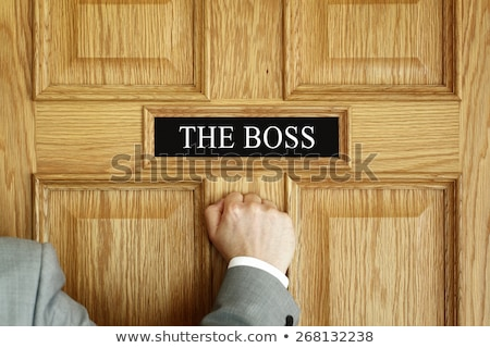 Businessman Knocking on Career Office Door Stock photo © stevanovicigor