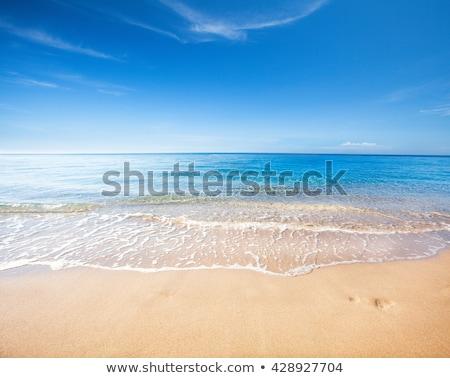 égbolt tengerpart kék ég tenger háttér nyár Stock fotó © compuinfoto