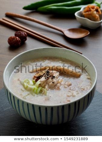 чаши · куриные · лук-порей · бульон · Китай - Сток-фото © wxin