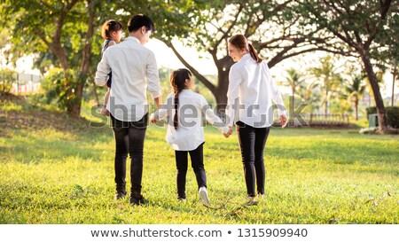 家族 · 家 · 庭園 · 実例 · ツリー · 赤ちゃん - ストックフォト © orensila