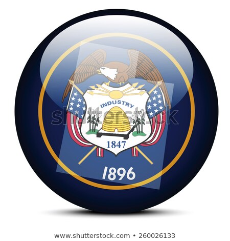 Map on flag button of USA Utah State Stock photo © Istanbul2009