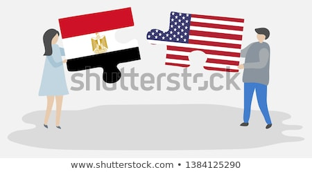 USA and Egypt Flags in puzzle  Stock photo © Istanbul2009