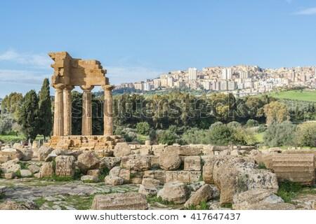 Ancient Greek Temple of Juno God, Agrigento, Sicily, Italy Stock photo © ankarb