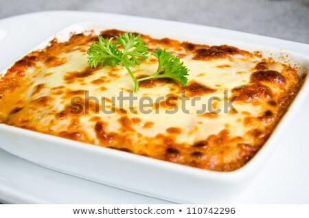 牛肉 肉 サラダ 野菜 粉チーズ 孤立した ストックフォト © ironstealth