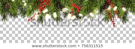 Karácsony keret ünnep fények kép illusztráció Stock fotó © Irisangel