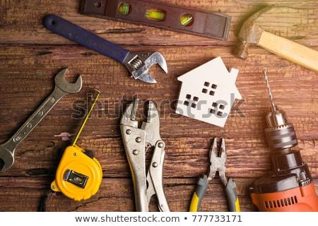 domu · plan · pracy · narzędzia · schowek - zdjęcia stock © devon