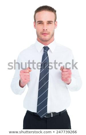Unsmiling businessman presenting his fists Stock photo © wavebreak_media