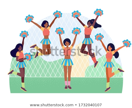 Stock photo: Girl in a Pom Pon Uniform