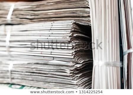 Stockfoto: Oude · kranten · plank · business