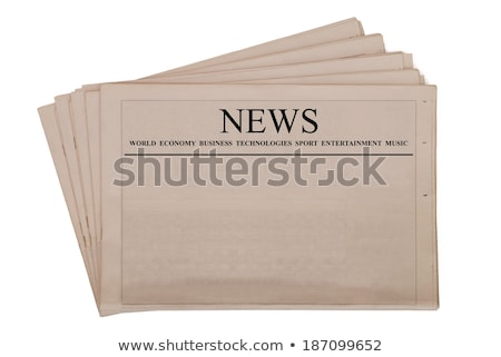 Stock photo: Pile of old newspapers