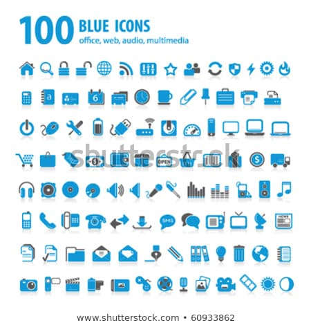 Stock photo: File Sign Blue Vector Icon Design