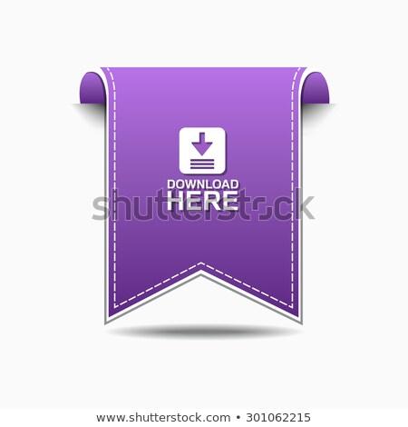 Téléchargement ici violette vecteur icône web Photo stock © rizwanali3d