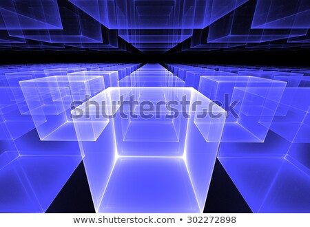 fractal illustration of cosmic background of rows of cubes in pe Stock photo © yurkina