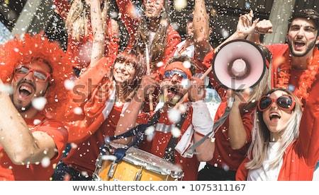 izgatott · tömeg · emberek · eps · nemzetközi · futball - stock fotó © beholdereye