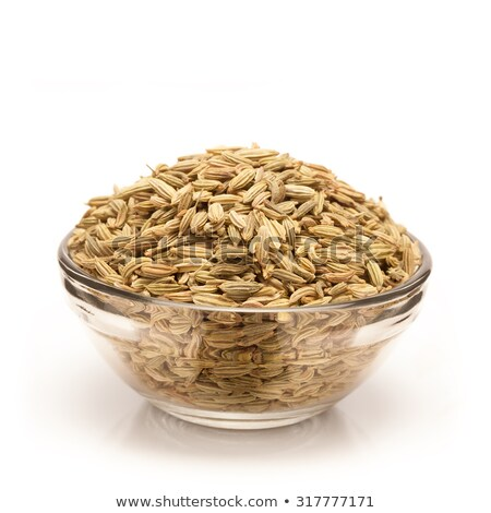 Front view of Bowl of Organic Fennel seed. Stock photo © ziprashantzi