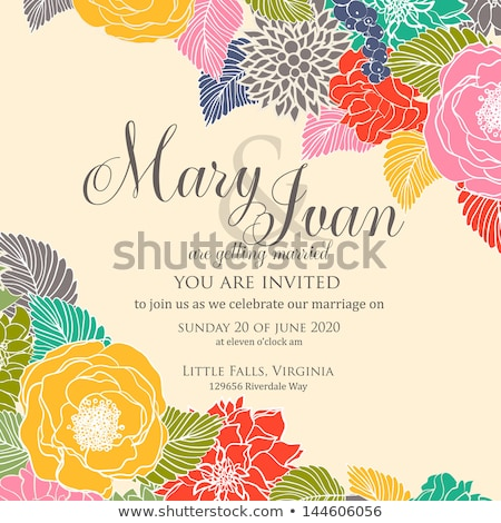 vintage easter invitation card with ornate elegant abstract flor stock photo © morphart