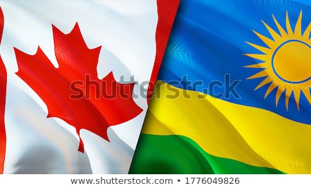 Canada and Rwanda Flags  Stock photo © Istanbul2009
