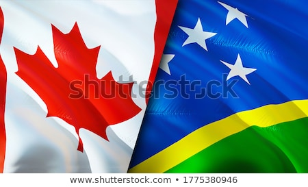 Canada and Solomon Islands Flags Stock photo © Istanbul2009