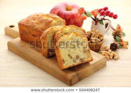 pound · kek · parça · krem · gıda · plaka - stok fotoğraf © digifoodstock