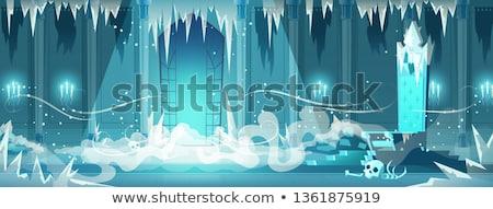 凍結 雪 ルーム クリスマス 壁 背景 ストックフォト © Avlntn
