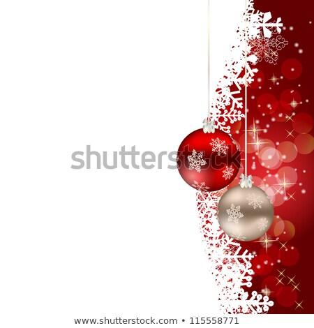 karácsony · díszek · absztrakt · fény · szín · háttér - stock fotó © valeriy