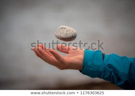 Menina naturalismo pedra bola belo Foto stock © svetography