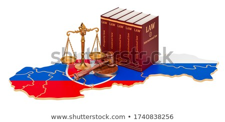 A gavel and a law book - Slovakia Stock photo © Zerbor