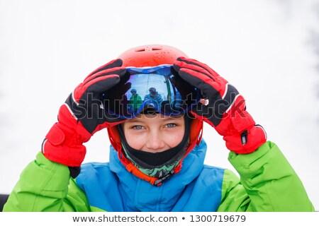 chłopca · narciarskie · narzędzi - zdjęcia stock © iofoto