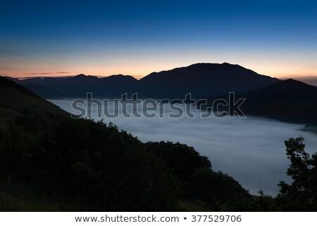 Sis piyano İtalya bulutlar doğa manzara Stok fotoğraf © fisfra