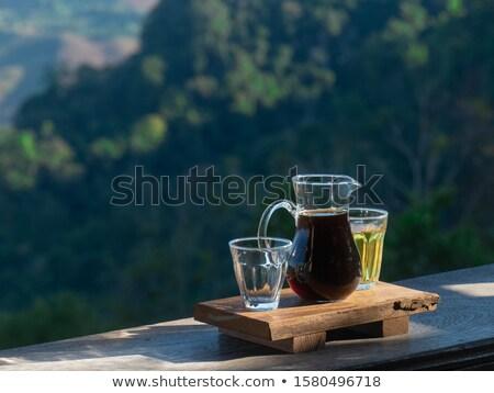 bril · groene · thee · twee · natuurlijk · licht · gezondheid · achtergrond - stockfoto © Komar