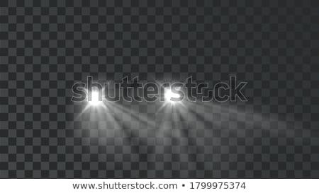 Araba aydınlatma farlar yeni modern Stok fotoğraf © cosma