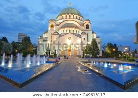 St. Sava Cathedral at night. Belgrade, Serbia Stock photo © Kirill_M