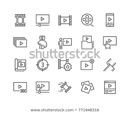 video player line icon stock photo © rastudio