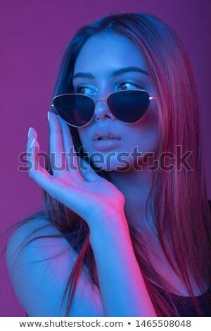 vonzó · burleszk · lány · fűtő · arany · hímzés - stock fotó © elisanth