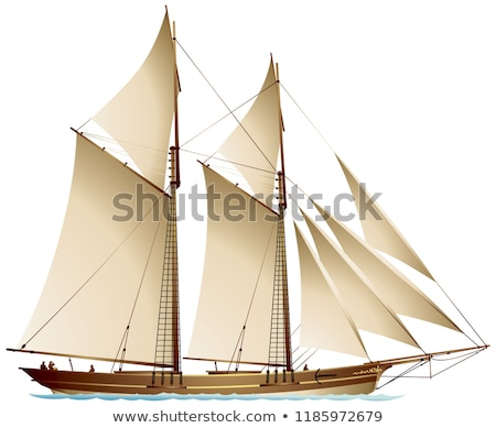 Two-masted schooner in the sea  Stock photo © Digifoodstock
