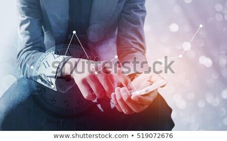 Affaires main échange taux flou Photo stock © FrameAngel