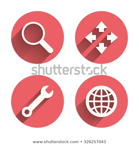 Round icons with maximize buttons Stock photo © bluering