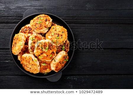 Pan fried vegetable patties Stock photo © Digifoodstock