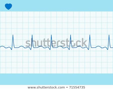 kék · orvostudomány · szívdobbanás · vonal · absztrakt · orvosi - stock fotó © beholdereye