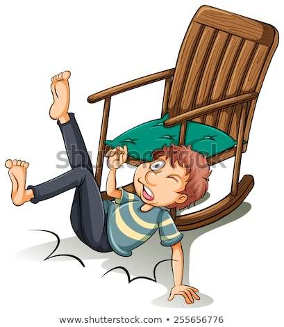 A man who fell off from the chair Stock photo © bluering