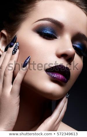 divat · modell · kreatív · hajviselet · egészséges · fekete · haj - stock fotó © svetography